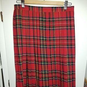Vintage mid-length Ralph Lauren pleated wool skirt